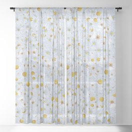 Shower of Daisies Sheer Curtain