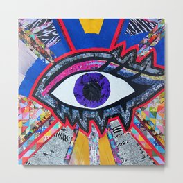 Eye collage Metal Print