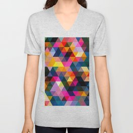 Triangles Landscape 2020 Unisex V-Neck