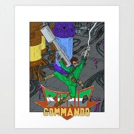 NES Tribute #2: Bionic Commando Art Print