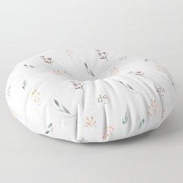 Little botanics pastel pattern Floor Pillow