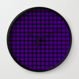 Small Indigo Violet Weave Wall Clock