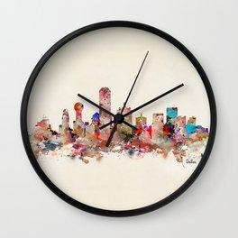 Dallas city texas Wall Clock