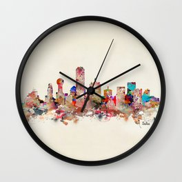 Dallas city texas Wall Clock