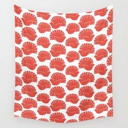 Block Cut Retro NZ Fantail Pattern Wall Tapestry