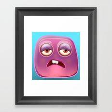 Glutton Jelly Monster  Framed Art Print