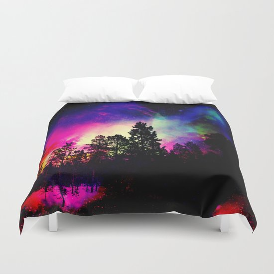 Nebula forest Duvet Cover