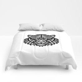 Tiger Head (Geometric) Comforters