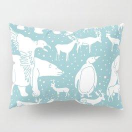 Polar gathering (peppermint) Pillow Sham