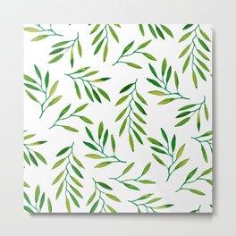 Willow -Green Metal Print