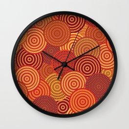 Australian pattern Wall Clock