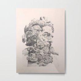 Bust of Neptune Drawing Lambert-Sigisbert Metal Print