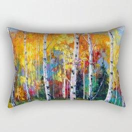 Autumn birches on the edge Rectangular Pillow