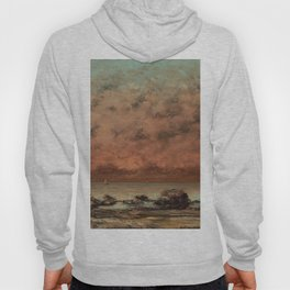 The Black Rocks at Trouville Gustave Courbet Painting Hoody