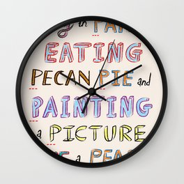 The Letter P Wall Clock