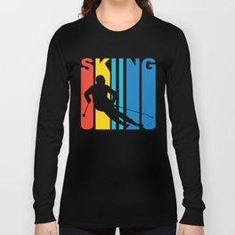 Retro Style Skiing Skier Winter Long Sleeve T-shirt
