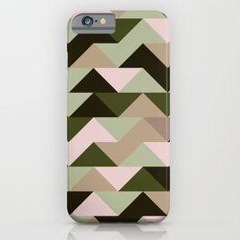 Triangles abstract earth colors iPhone Case