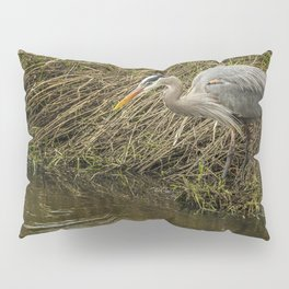 Great Blue Heron By the Water's Edge Pillow Sham