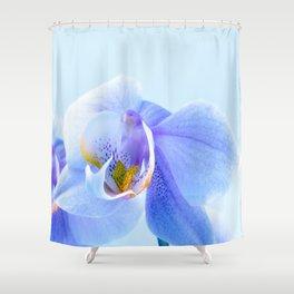 Unique Duvet Cover - Floral Design in Blue 66 Shower Curtain