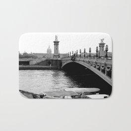 Bridge in Paris, France Bath Mat