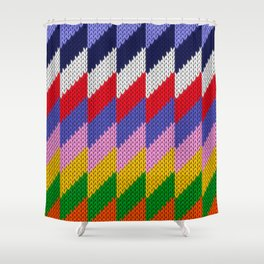 Knitted colorful pattern Shower Curtain