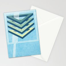 Four Triangles  Stationery Cards