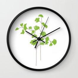 Maidenhair Fern Illustration Botanical Print Wall Clock