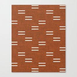 double dash - burnt orange Canvas Print