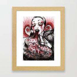Luce And Unicorn Framed Art Print
