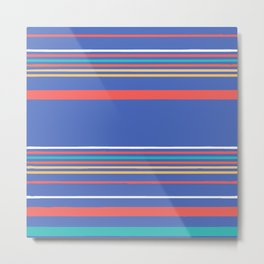 Blue Stripe Metal Print