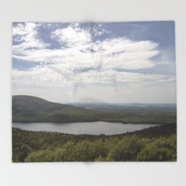 View from Acadia National Park Throw Blanket