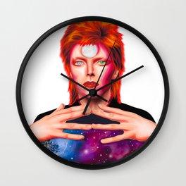David Bowie - Stylized portrait in retro modern style Wall Clock