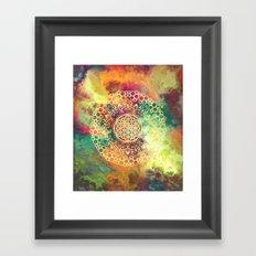 Flower Of Life (Batik 3) Framed Art Print