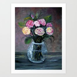 Variety of Spice Roses Art Print
