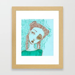 water me Framed Art Print