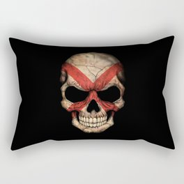 Dark Skull with Flag of Alabama Rectangular Pillow