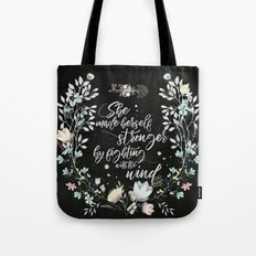 Secret Garden - She Made Herself Stronger (Black) Tote Bag