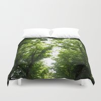 robin hood Duvet Covers featuring Hood by YattaGiulia
