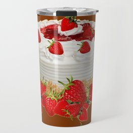 CHOCOLATE STRAWBERRIES PARTY CAKE Travel Mug