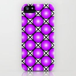 Neon Purple Pattern iPhone Case
