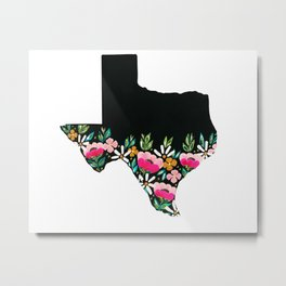 Floral Texas Metal Print