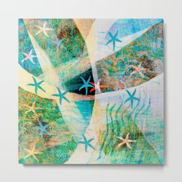 starfish decor ##### Metal Print