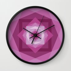 Shades of pink Wall Clock