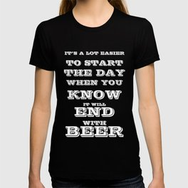to start the day - I love beer T-shirt