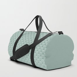 Geometric #turquoise #pattern #monochrome Duffle Bag