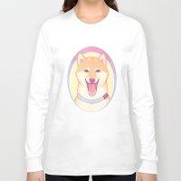 shiba inu Long Sleeve T-shirts featuring Shiba Inu by daftmue