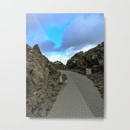 Lava Rocks at the Entrance to Iceland's Blue Lagoon (1) Metal Print