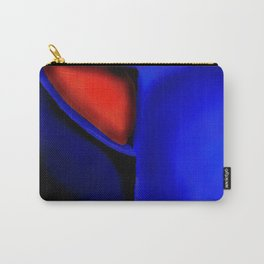 Abstraction in Lapis and Red Carry-All Pouch