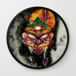 Blood Moon Mask Wall Clock