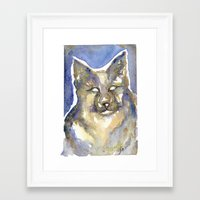 copper Framed Art Prints featuring Copper by Bootsies Watercolor Kittys